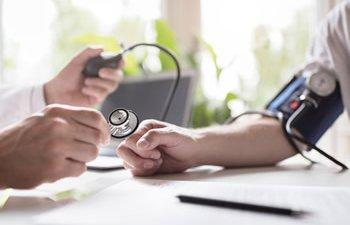 Patient's blood pressure test